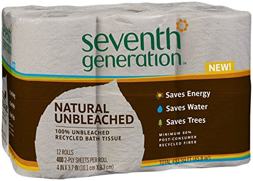 Seventh Generation Unbleached Bathroom Tissue, 12 ()