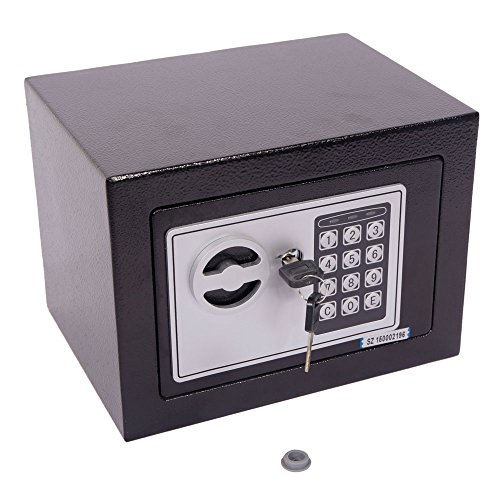 - Yirind Digital Electronic Safe Security Box Fireproof Wall-Anchoring Safe Deposit Box for Money Jewelry Cash,Black,Not Included Batteries