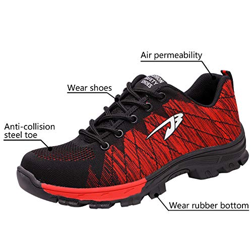 2 Toe Optimal Men's Shoes Shoes Shoes Work Red Steel Safety 1qBwTWqzH