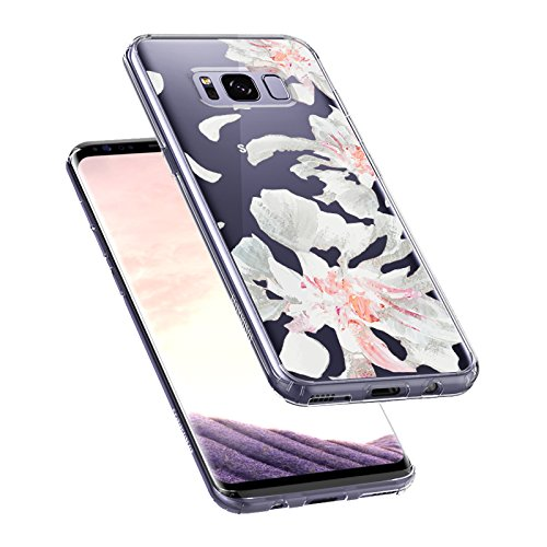 Floral Case for Samsung Galaxy S8 Plus White Petal