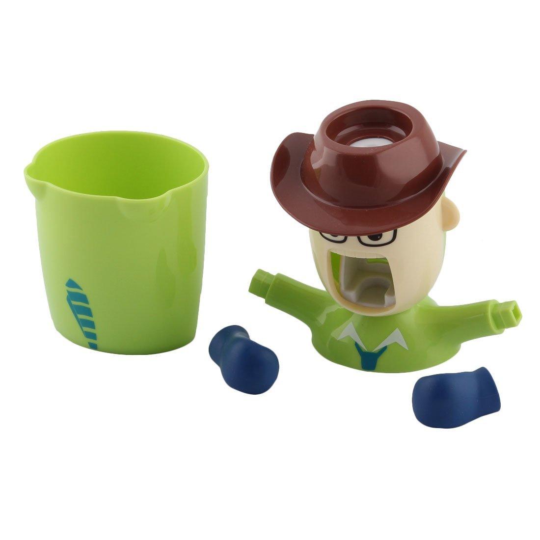 Amazon.com: eDealMax de dibujos animados patrón de plástico Baño Pasta de dientes automático dispensador del exprimidor de la Copa de almacenamiento del ...
