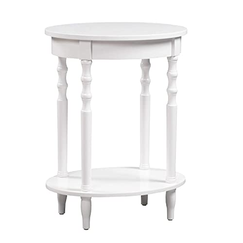 Convenience Concepts Classic Accents Brandi Oval End Table, White