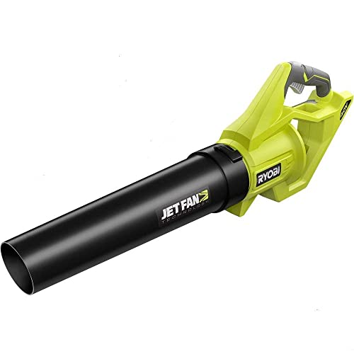 Ryobi 40-Volt Baretool Lithium-Ion Cordless Jet Fan Leaf Blower with Variable-Speed 110 MPH 500 CFM 2019 Model RY40460 Battery and Charger Not Included