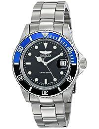 Invicta Men's ILE9937OBASYB Pro Diver Analog Display Swiss Automatic Silver Watch
