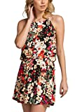 TL Women's Sleeveless Casual Summer Floral Print Mini Dress Made In USA 211 MULTI L