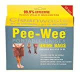 Cleanwaste Pee-Wee Unisex Urine Bags - 25 12 Packs
