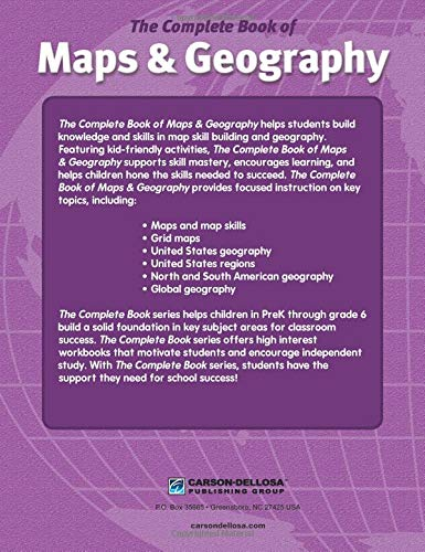 The Complete Book of Maps & Geography, Grades 3 - 6 by Carson-Dellosa (Image #2)
