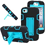 Generic Body Armor Silicone Hybrid Cover Hard Case for iPhone 4/4s - Non-Retail Packaging - Black/White