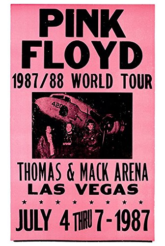 Rock Concert Poster (Pink Floyd Concert Poster, Las Vegas, Nevada)