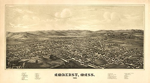 Amherst, Massachusetts - (1886) - Panoramic Map (24x36 Giclee Gallery Print, Wall Decor Travel Poster)