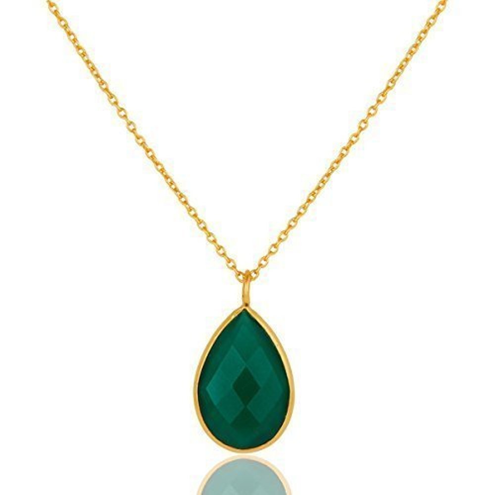Nathis Green Onyx Drop Pendant