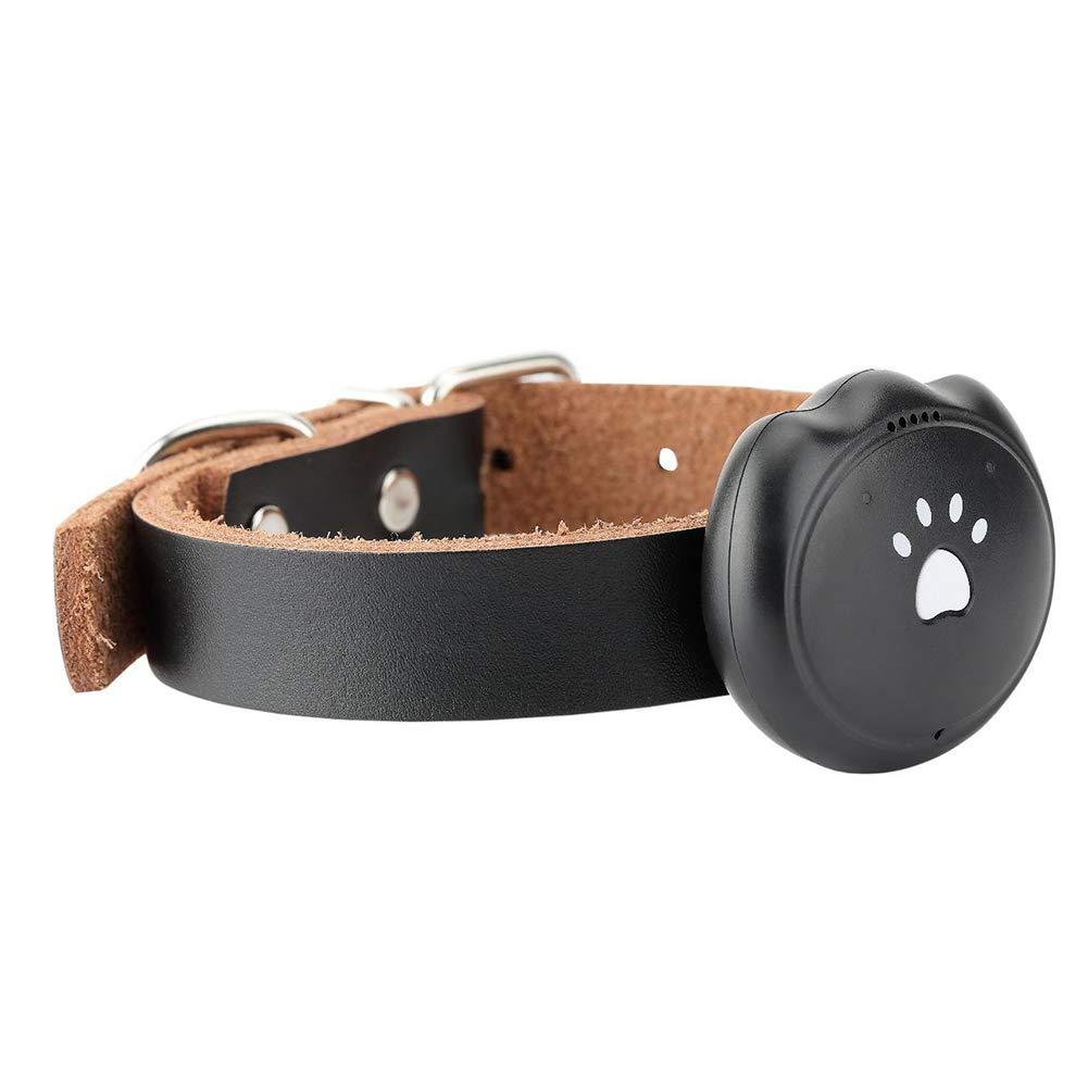 mage2pnper Pet Tracker, GPS Pet Tracker Dog Cat Locator Waterproof Tracking Anti-Lost Activity Monitor - Black