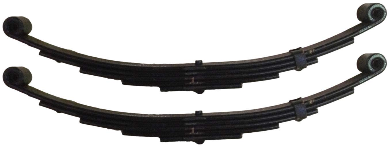 M-Parts Pair of 25-1/4'' 5-Leaf Double Eye Springs 1-3/4'' Wide for 5,200/6,000 Lb Axles (3,000 Lb Capacity Per Spring) - SW5 (2 Included) by M-Parts