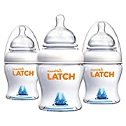 Munchkin Latch Anti-Colic Baby Bottle with Ultra Flexible Breast-like Nipple, BPA Free, 4 Ounce, 3 Pack