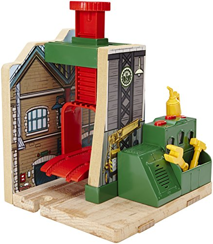 Fisher-Price-Thomas-the-Train-Wooden-Railway-Steamworks-Lift-and-Repair-Train-Set