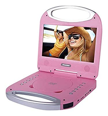 Sylvania 10-Inch Portable DVD Player with Integrated Handle and USB/SD Card Reader, Pink from Sylvania