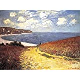 Posters: Claude Monet Poster Art Print - Path Through The Corn To The Beach, Pourville, 1882 (42 x 32 inches)