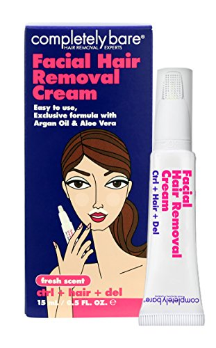 Completely Bare Facial Hair Removal Cream, 0.5 Ounce (Pack of 12)