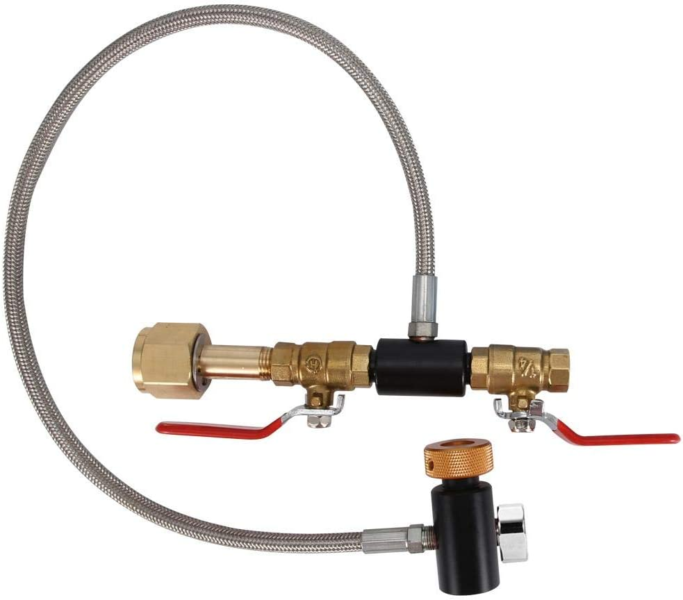 36 inch with Gauge CO2 Refill Adapter,Filling SodaStream Tank Adapter G1//2 CO2 Cylinder Refill Adapter Tank Adapters with Hose for Filling Sodastream