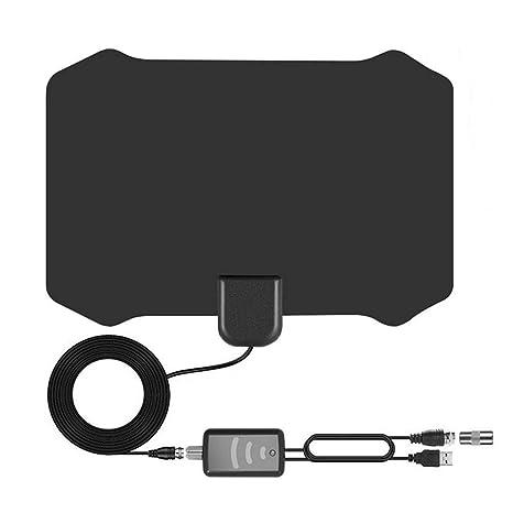 ... para Interior Digital, Amplificador de Alcance de 80 Millas para Amplificador de señal para 1080P 4 K Canales de TV gratuitos-13 pies, Cable coaxial: ...