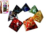 New Chakra 7 Orgone Pyramid Set Free Booklet Jet Crystal Therapy