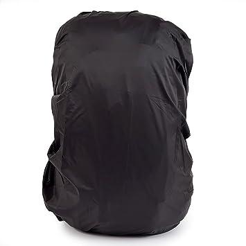 Funda impermeable a prueba de polvo para mochila para senderismo y campamentos al aire libre. Paquete de fundas de 45 y 55 l, negro: Amazon.es: Deportes y ...