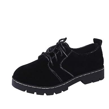 Zapatos de Mujer, ASHOP Casual Planos Loafers Mocasines de Puntera otoño Invierno Botín de Gamuza Plano con Cordones Botas de para Mujer: Amazon.es: Ropa y ...