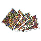 The Original DoodleArt Mini Kit 1 Adult Coloring Poster Set