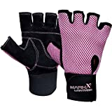 Gym Weight lifting Gloves body building Cycling Fitness Exercise Glove Pink