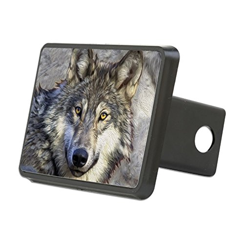(CafePress - Grey Wolf - Trailer Hitch Cover, Truck Receiver Hitch Plug Insert)