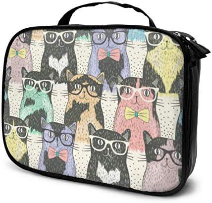 Sin Costura con Hipster Cute Cats F Bolsas de Maquillaje de Viaje para niños Estuche de Maquillaje para niños Bolsa de cosméticos de Viaje Bolsa Impresa multifunción para Mujeres: Amazon.es: Equipaje