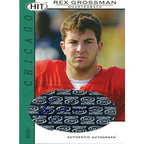Rex Grossman Autographed Football - Rex Grossman Autographed 2004 Sage Card - Autographed Football Cards