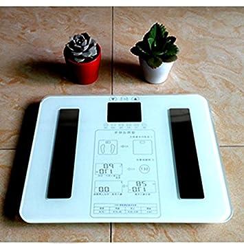 Smart báscula libras de grasa corporal analizador de la electrónica de precisión instrumento de medición grasa corporal nivel: Amazon.es: Deportes y aire ...