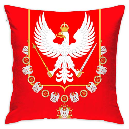 ZGSDYMMB Coat of Arms of Poland Pillow Covers Throw Pillow Case Daily Decorations Sofa