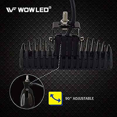 WOWLED 18W 6 Inch CREE LED Flood Lamp Work Driving Light for SUV ATV Boat Truck: Automotive