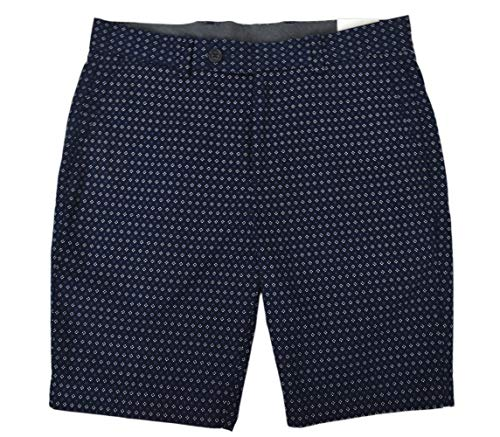 Brooks Brothers Mens 100% Cotton Printed Bermuda Shorts Navy Blue (33W)