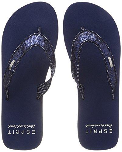 Esprit Glitter Thongs, Mules Femme, Schwarz (Schwarz), 42 EU Bleu (Navy)