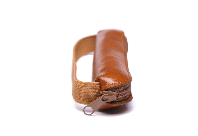 HUAIX Home Bürobedarf Federmäppchen Exquisite Leder Einzelfeder Einzelfeder Einzelfeder Federmäppchen Federmäppchen Federtasche (Leichter Kaffee) B07MF1HKY6 | Ausgezeichnet (in) Qualität  f2a47c