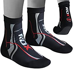 Authentic RDX MMA Grip Training Fight Socks Boxing Foot Ankle Shin Boots Shoes Guards by RDX