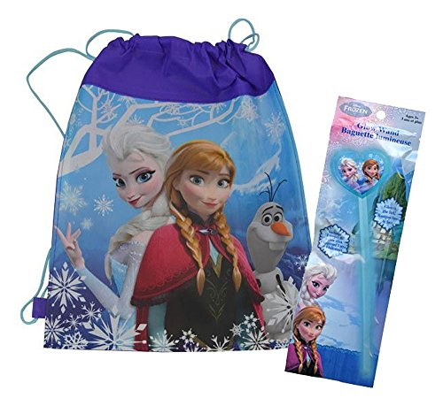 Disney Frozen Inspired Happy Halloween Trick or Treat Draw String Loot Bag! Featuring Queen Elsa & Princess Anna! Plus Bonus Frozen Glow (Frozen Trick Or Treat Bag)