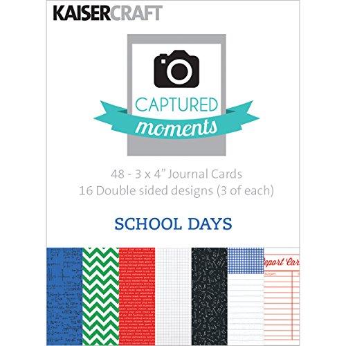 [해외]Kaisercraft Captured Moments Double-Sided Cards 3 by 4-Inch School Days / Kaisercraft Captured Moments Double-Sided Cards 3 by 4-Inch School Days