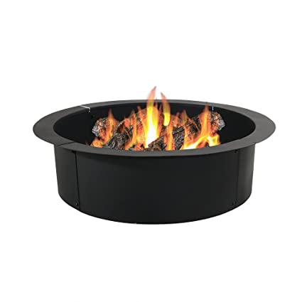 Sunnydaze Fire Pit Ring Liner Heavy Duty Diy Above Or In Ground Outdoor Backyard Wood Burning Bonfire Insert Kit 36 Inch Outer 30 Inch Inner