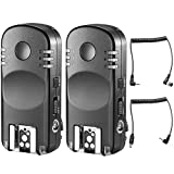 Neewer 2.4G Wireless Remote Flash Trigger Transceiver Pair with Remote Shutter Cable for Nikon DSLR Cameras, Such as D7200 D7100 D7000 D5100 D5000 D3200 D3100 D600 D90 D800E D800 D700 D300s D200 D4 D3