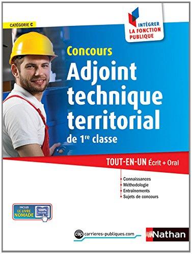 Concours Adjoint technique territorial de 1re classe Broché – 21 août 2014 Laurent Fischer Élisabeth Simonin Nathan 2091636665