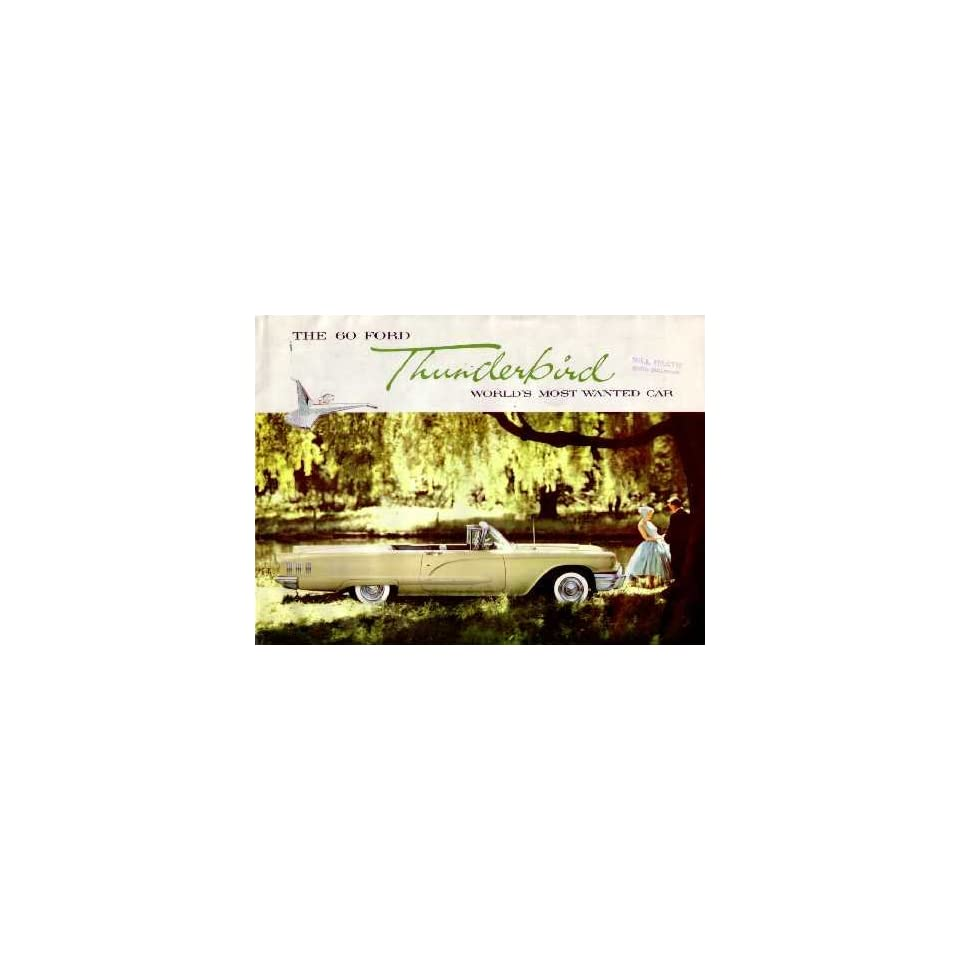 1960 FORD THUNDERBIRD Sales Brochure Literature Book