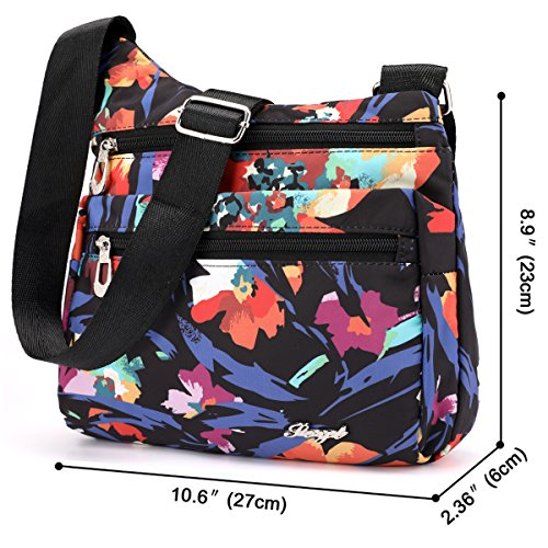 Nylon Shoulder Jasmine STUOYE Travel Crossbody Bag for Purse Women Multi Pocket Bags zUqUdP