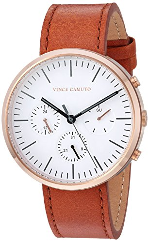 Vince Camuto Men's VC/1097WTRG Multi-Function Tan Leather Strap Watch