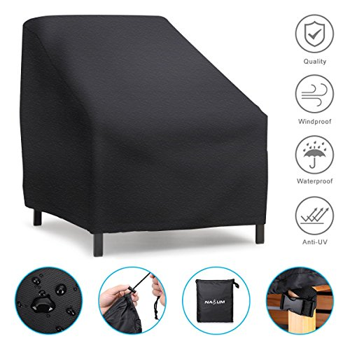NASUM Patio Seat Cover Lounge Loveseat/Deep-seat Well-behaved Waterproof Dust-resistant Outdoor Furniture Oxford Cloth Cover (small) by NASUM