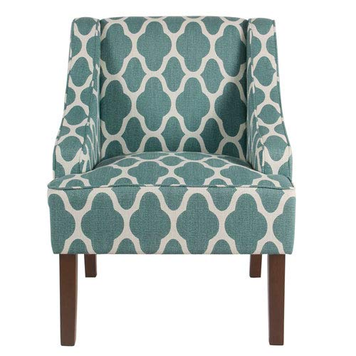 Amazon Com Meadow Lane Classic Swoop Arm Chair Teal