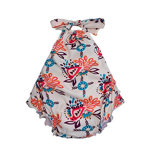 Little Story Newborn Infant Romper Baby Girls Geometric Print Bowknot Junmsuit Petal Edge Romper Bodysuits Cute Playsuit